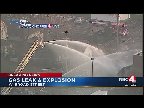 Building destroyed after gas leak, explosion in west Columbus