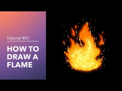 How to Draw a Flame - Digital Painting Tutorial | JujuArts