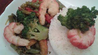 На ужин брокколи с фасолью+аля креветки