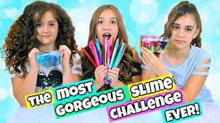 Mystery Glitter Straws Glitter Bomb Slime Challenge - Crystal Clear Slimes and TONS of Glitter!