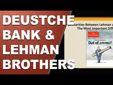 Deutsche Bank and Lehman Brothers Similarities Global Banking Collapse