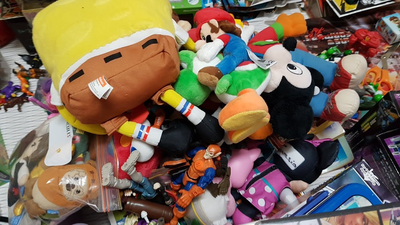 Garage Sale / Church Sale Pickups: Toys, Plushies, Video Games    So Much  Stuff