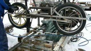 Homemade Bandsaw Mill. Part 2 (blade Installation)