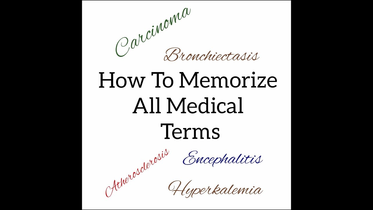 How To Memorize Medical Terms Using Prefix and suffix | Medical ...