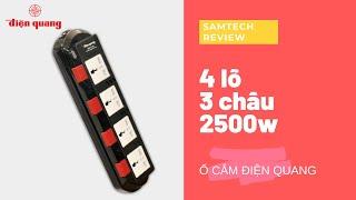 Ổ cắm điện chịu nhiệt Điện Quang ĐQ ESK SM740SL 4 lỗ 3 chấu 2500w