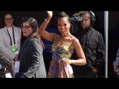 Kerry Washington and Nnamdi Asomugha arriving to the Independent Spirit Awards in Santa Monica