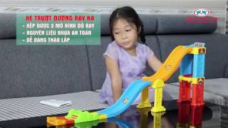 Đồ Chơi Trẻ Em Đua Xe Trên Đường Ray (Xe Đua Nhỏ Trượt Đường Ray K4) | NHỰA CHỢ LỚN