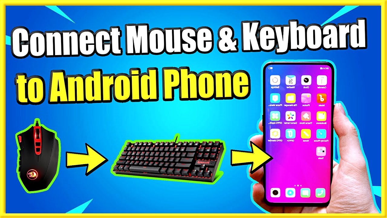 How To Connect Keyboard And Mouse To Android Phone Wired Or Wireless Easy Method Youtube