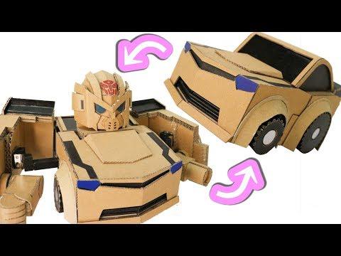 Cardboard DIY Q-TRANSFORMERS BUMBLEBEE  キュートランスフォーマー バンブルビー