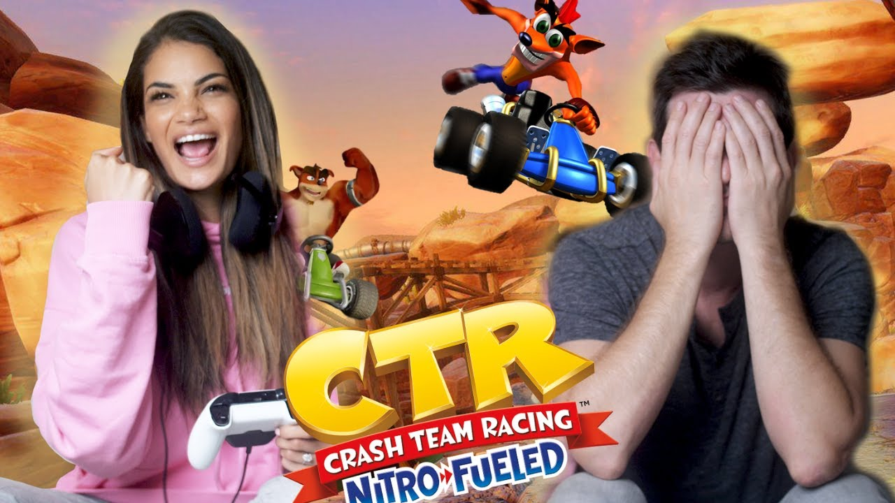 Fiancé CHALLENGES me to CRASH TEAM RACING - who will WIN?