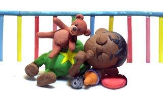 Superhero baby star sleep time 💕 Play Doh Stop motion cartoons