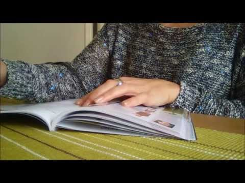 ASMR Page turning. Glossy booklet & Paper page Magazine