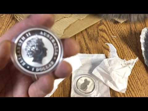 Silver Perth mint coin unboxing