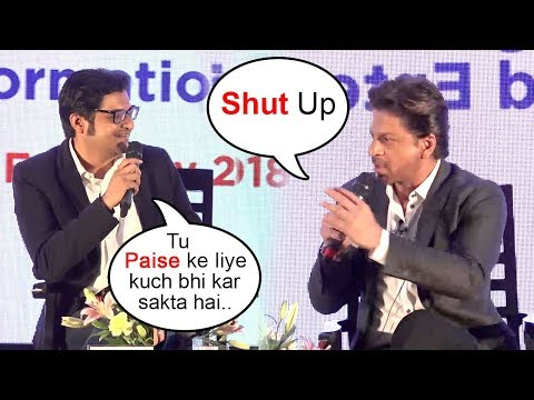 Shahrukh Khan FIGHTS With Arnab Goswami For...
