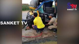 Odisha : One killed, one injured as auto hits stationary truck in Balasore | Sanket Tv