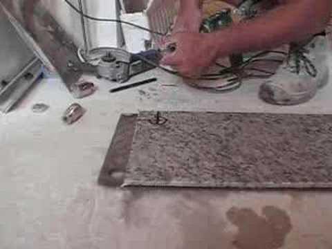 Marcar y taladrar granito drilling granite youtube for Granito vs marmol