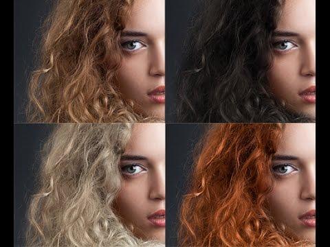 Как изменить цвет волос в фотошопе. Урок фотошопа. Фотошоп для начинающих. Видеоуроки Pro Photoshop