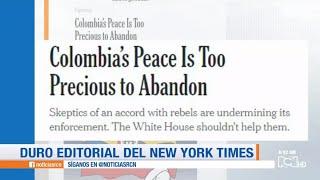 The New York Times señala al gobierno Duque de sabotear el acuerdo de paz con las Farc