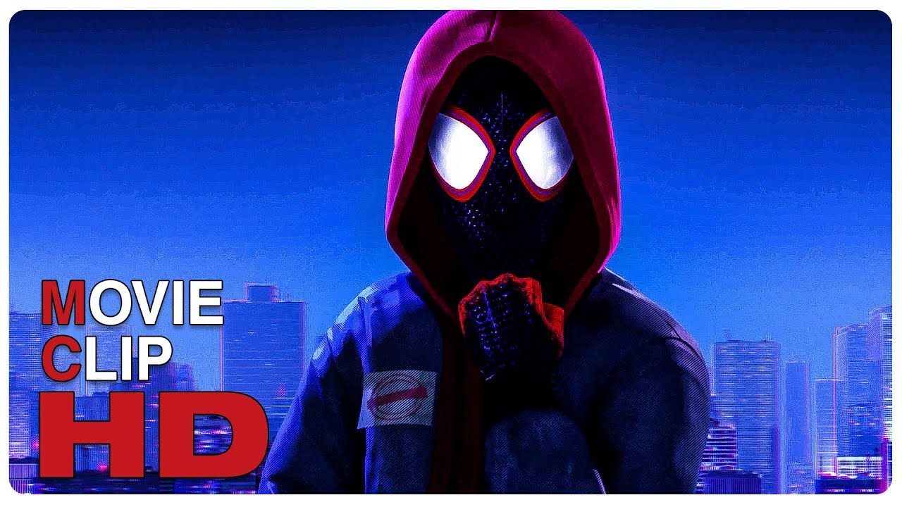 Miles Morales Becomes Spider Man Scene Spider Man Into The Spider Verse 2018 Movie Clip Hd Youtube