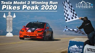 Tesla Model 3 Winning Run Pikes Peak 2020