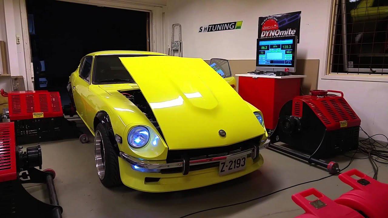 Datsun 240z stock l24 dyno at sh tuning youtube vanachro Gallery