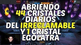 Abriendo 44 Cristales Diarios Irreclamables y 1 Cristal Ególatra - Marvel Contest Of Champions