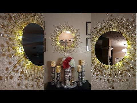 DIY Wayfair Inspired Wall Mirror | Dollar Tree DIY High End Home Decor for Less