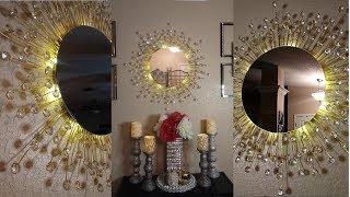 Diy Wayfair Inspired Wall Mirror   Dollar Tree Diy High End Home Decor For Less