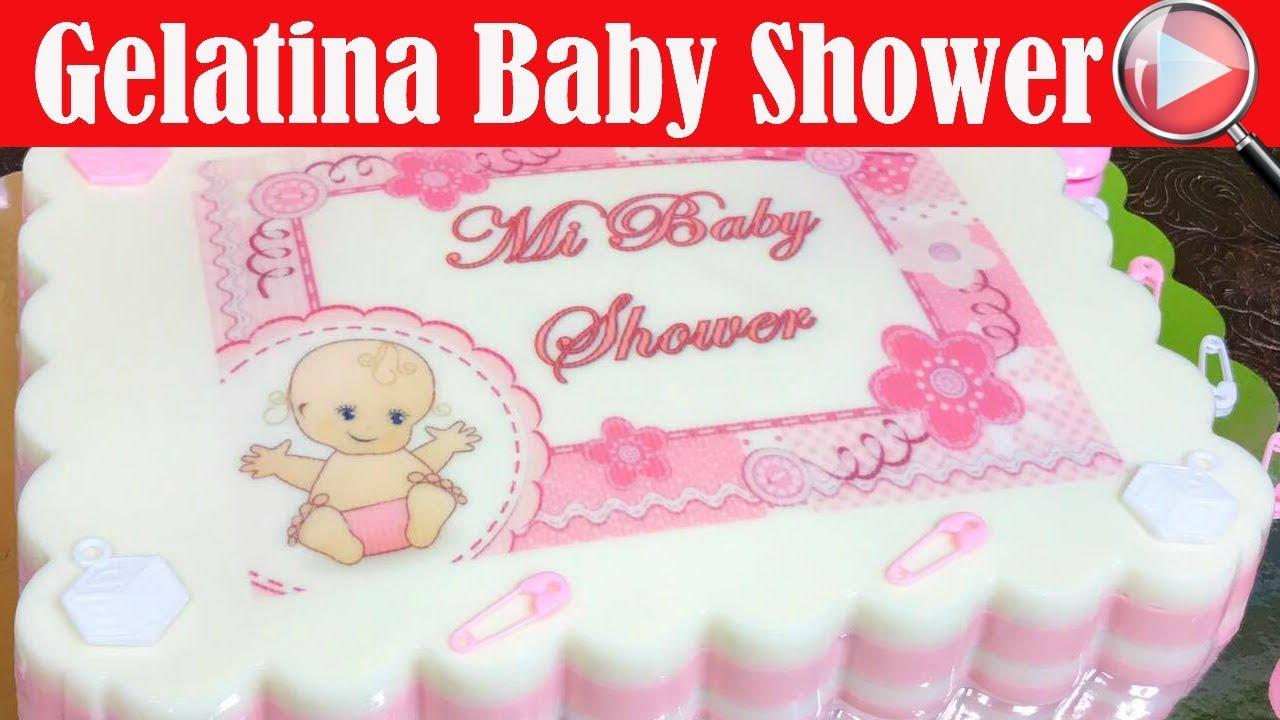 Gelatina Con Transfer De Baby Shower Para Niña   Recetas En Casayfamiliatv