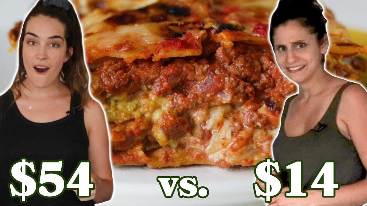 $14 Vs. $54 Vegan Lasagna