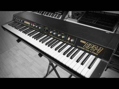 korg eps 1 electronic piano strings 1983 youtube. Black Bedroom Furniture Sets. Home Design Ideas