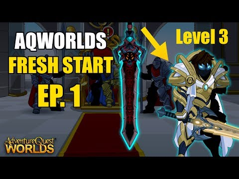 AQW Fresh Start Episode 1 - Ceremonial Void Knight Sword at LEVEL 3! Adventure Quest Worlds