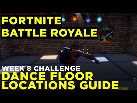 Dance on different Dance Floors Challenge Guide - Fortnite Battle Royale Week 8