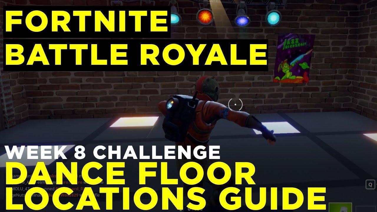 dance on 3 dance floors challenge guide fortnite battle royale week 8 - fortnite dance floors challenge