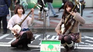 輝&輝 ねぶたBAYASHI ヘブンアーティスト IN 渋谷 20110110.