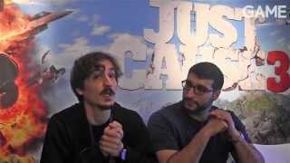 GAME Meets: Francesco Antolini & Omar Shakir - Just Cause 3 Features, Gameplay & 3 Words