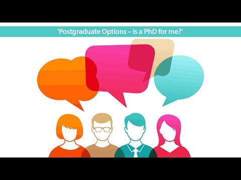 #jobsQ Live Video Hangout: 'Postgraduate Options - Is a PhD for me?'