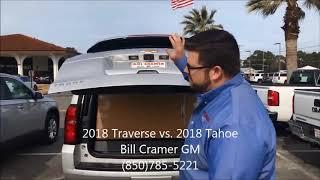 2018 Traverse vs  2018 Tahoe cargo comparison