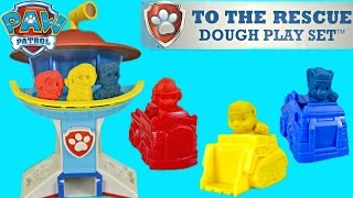 Paw Patrol To The Rescue Dough Play Set Like Play Doh! Make Everest, Chase, Marshall, & More!