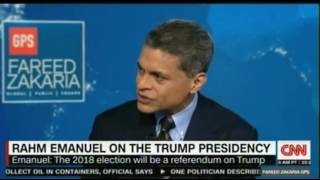 Rahm Emanuel former Obama's chief on the Trump presidency