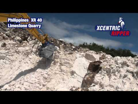 Philippines Limestone Quarry  -  Xcentric Ripper XR40