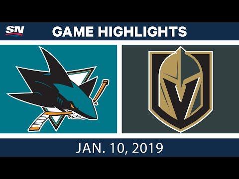 NHL Highlights | Sharks vs. Golden Knights - Jan. 10, 2019
