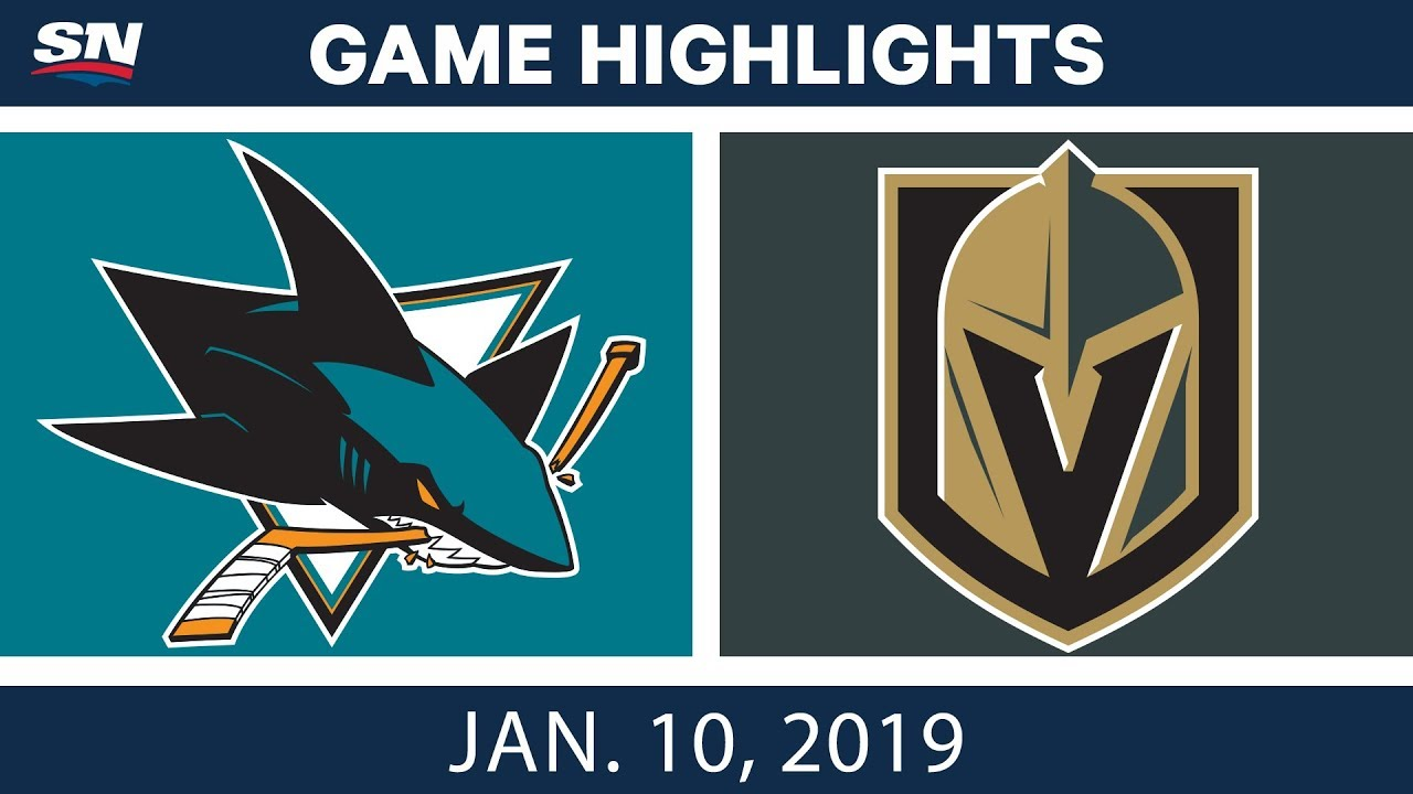 NHL Highlights | Sharks vs. Golden Knights - Jan. 10, 2019