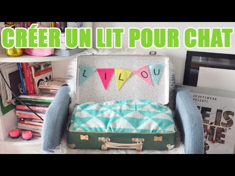 cr er un lit pour chat en recyclant une valise diy avec youmakefashion youtube. Black Bedroom Furniture Sets. Home Design Ideas