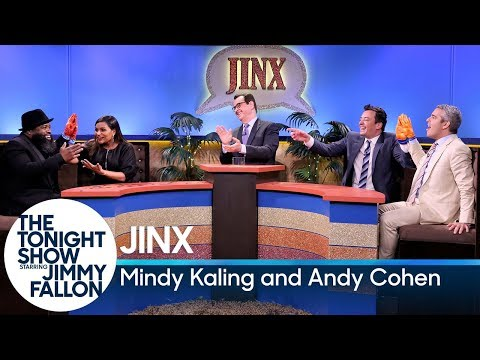 Jinx with Mindy Kaling and Andy Cohen