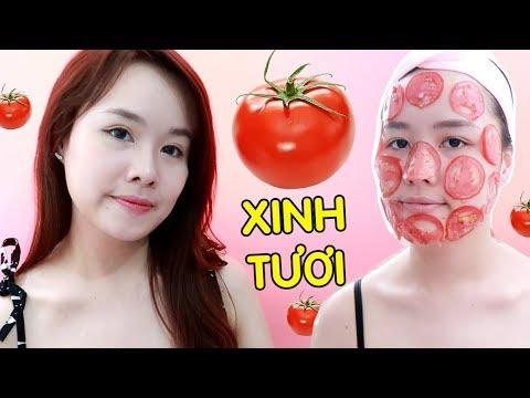 MẸO CHO DA CĂNG MỊN VỚI CÀ CHUA TƯƠI - Tomato Beauty Hacks | Ngọc Bube