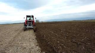 MF 1135 plowing