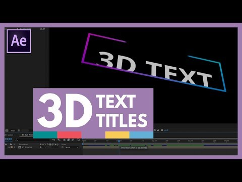 3D Text Animation in After Effects