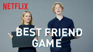 Lucas Lynggaard Tønnesen and Alba August from The Rain play The Best Friend Game | Netflix