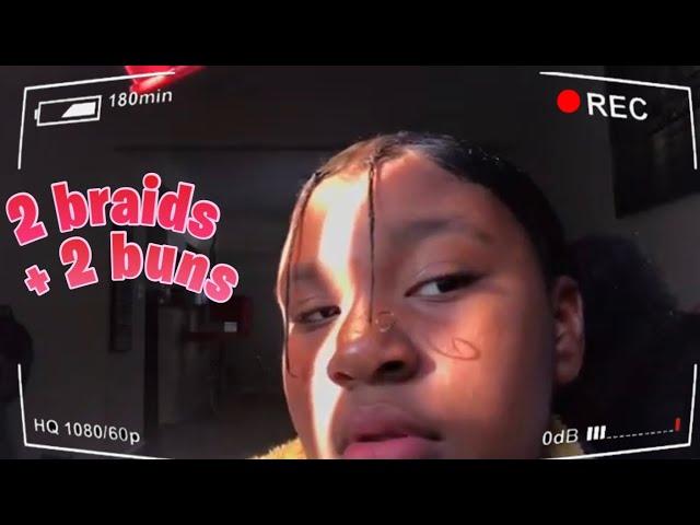 2 BUNS + 2 BRAIDS TUTORIAL